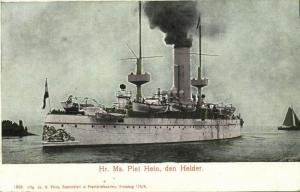 Royal Netherlands Navy Evertsen-class Coastal Defence Ship Piet Hein (1900)