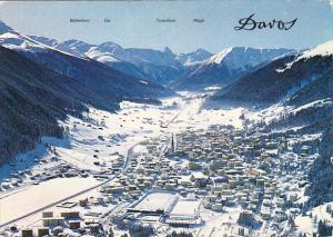 Switzerland Davos gegen Tinzenhorn und Piz Mitgel