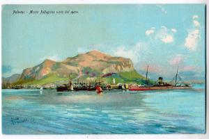 Palermo, Monte Pellegrino vistadal mare
