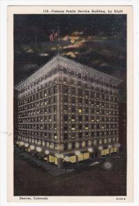 Public Service Building, By Night, DENVER, Colorado, 30-40's