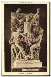 Old Postcard Musee Du Louvre Carpeaux Dance