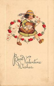 John Winsch Publishing St. Valentines Day Postcard Writing on back