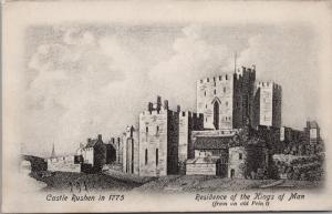 Castle Rushen in 1775 Isle of Man UK Brown & Sons Manx Sun Series Postcard E35