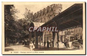 Postcard Old Vichy Clear Passage and Hotel Astoria