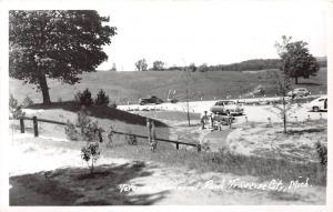 E31/ Traverse City Michigan Mi RPPC Postcard c50s Veteran Memorial Park 12