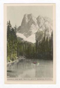RP  boat on Emerald Lake, Mt Burgess, Field, BC, Canada 1910-20s