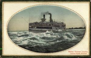 Steamer Empress Shooting Lachine Rapids Montreal c1910 Postcard