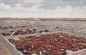 Illinois Chicago Union Stock Yards Cattle Pens 1913