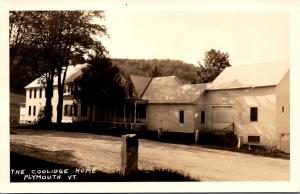 Vermont Plymouth The Coolidge Home Real Photo