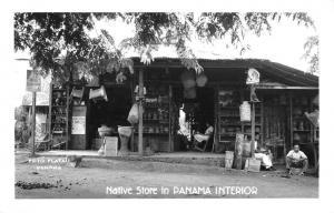 Panama Native Store Interior Street View Real Photo Antique Postcard K28697