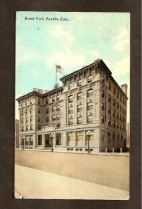 POSTCARD-VINTAGE - Hotel Vail, Pueblo, Colorado - 1916