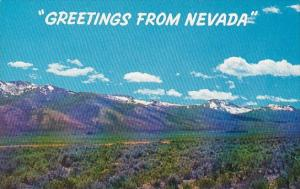 Nevada Greetings From Nevada Ruby Mountain And The Purple Sage