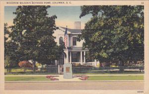 Woodrow Wilson's Boyhood Home, COLUMBIA, South Carolina, 30-40s