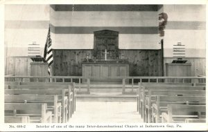 Pennsylvania Indiantown Gap Inter-Denominational Chapel Interior 1944