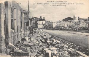 Revigny France~Rue de Vitry After Bombing September 1914~WWI Military Postcard