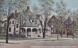 ROCHESTER, Minnesota, 1900-10s; Residences on West College Street