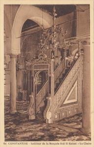 Algeria Constantine Interieur de la Mosquee Sidi El Ketani La Chaire