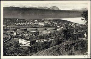 norway norge, NARVIK, Utsikt fra Fjellheim (1950s) RPPC