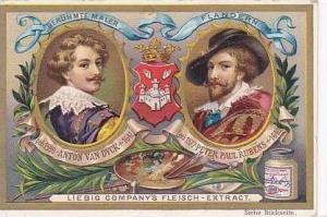 Liebig Vintage Trade Card S489 Famous Painters 1896 Anton Van Dyck & Peter Pa...
