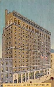 New York City~Hotel cornish Arms~23rd St & 8th Ave~$2.75~1954 Linen Postcard