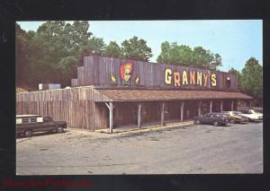 WILDWOOD GEORGIA GRANNY'S RESTAURANT 1960's CARS ADVERTISING POSTCARD