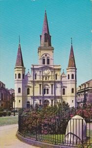 Louisiana New Orleans St Louis Cathedral At Jackson Square