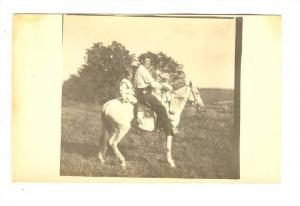RP, Man With Children Riding A White Horse, 1900-1910s