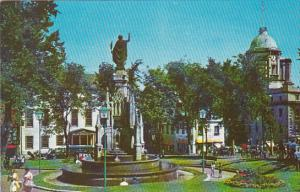 Canada Quebec La Cite Faith Monument At the Place D Armes