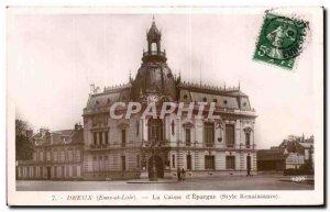 Old Postcard Dreux (Eure et Loire) Caisse d Epargne (Renaissance style)