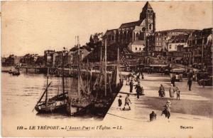 CPA AK Le TRÉPORT L'Avant Port et l'Église (415860)