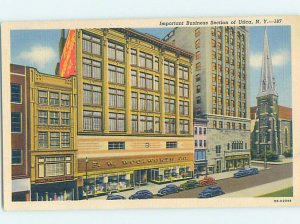 Linen WOOLWORTH'S AND SHOPS ALONG STREET Utica New York NY AF3292