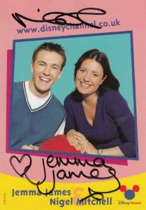 Jemma James & Nigel Mitchell The Disney Channel Hand Signed Cast Card Photo