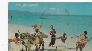Cast of Native Floor Show Rehearsing on the Beach, Jamaica, PU-1967