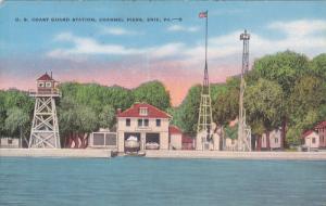 ERIE , Pennsylvania , 30-40s ; Channel Piers' Coast Guard Station