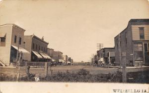 Wellsburg Iowa~Main Street~Horse Wagons~Nice Little Town~c1908 Real Photo~RPPC
