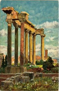 CPA ROMA Ruinen des Saturntempels. ITALY (551687)