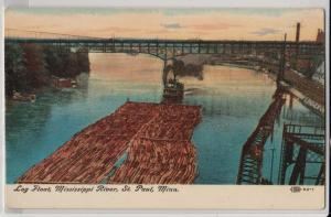 Log Floats, Mississippi River, St Paul MN