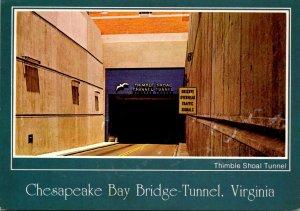 Virginia Chesapeake Bay Bridge Thimble Shoal Tunnel Leaving Norfolk
