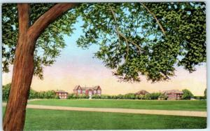 KERRVILLE, Texas  TX   SCHREINER INSTITUTE Junior College c1940s Linen Postcard