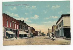 Store Front Street Scene Fulton Illinois Antique Postcard P244