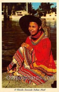 Seminal Indian Postcard Florida, USA Florida Seminole Indian Maid