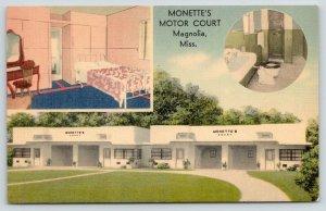 Magnolia MS~Monette's Motor Court~Inside Out~Guest Bath Room~ART DECO~1940 Linen