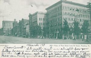 Penn Street Viewed from 5th Street - Reading PA, Pennsylvania - pm 1906 - UDB
