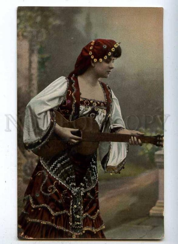 187070 BELLE Actress GUITAR Musician Woman Vintage TINTED PC