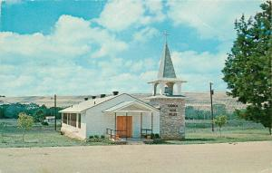 Canyon City Texas~Church in the Valley~1950s Postcard
