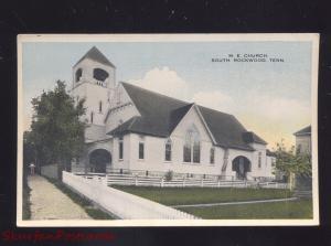 SOUTH ROCKWOOD TENNESSEE METHODIST EPISCOPAL CHURCH VINTAGE POSTCARD