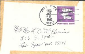US Used Pre-stamped Postcard UX88 Eagle - Domestic Rate