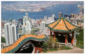 View From The Peak Kowloon And Hong Kong Postcard PC1059