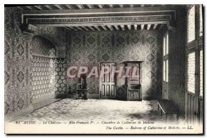 Old Postcard Blois Chateau Francois 1er Wing Room of Catherine de Medicis