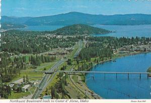 Northwest Boulevard leads to Coeur d' Alene,  Idaho, 50-70s
